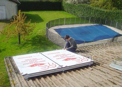 Chantier de panneaux solaires thermiques